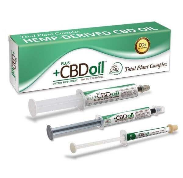 Plus CBD Kannabisz Olaj Szájon Át Alkalmazható Fecskendőben Növényi Kivonattal