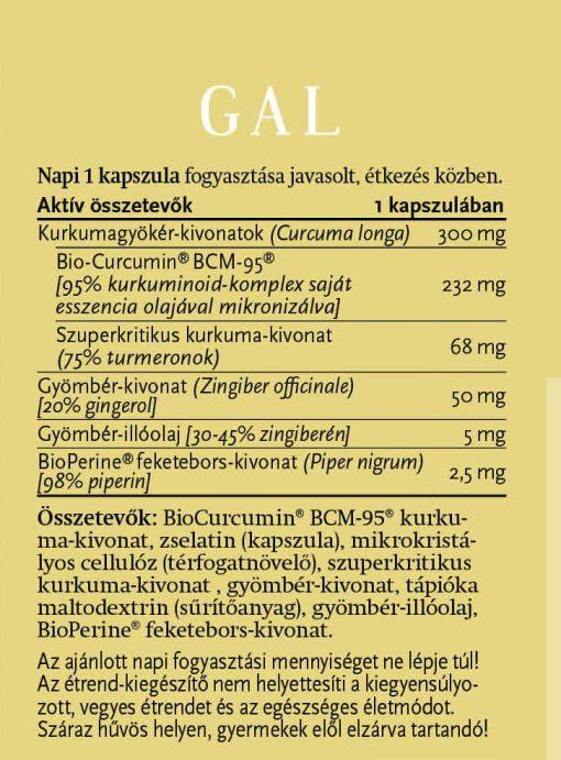 gal biocurcumin forte összetevők